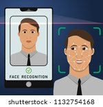 face recognition and... | Shutterstock .eps vector #1132754168