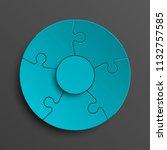 puzzle five piece business... | Shutterstock . vector #1132757585
