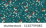 seamless floral pattern in... | Shutterstock .eps vector #1132759382