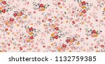 seamless floral pattern in... | Shutterstock .eps vector #1132759385