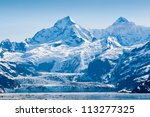 glacier and snow capped... | Shutterstock . vector #113277325