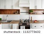 stylish kitchen interior with...   Shutterstock . vector #1132773632