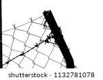 barbed wire background. vector... | Shutterstock .eps vector #1132781078