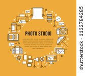 photography equipment poster... | Shutterstock .eps vector #1132784285