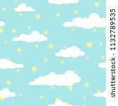 seamless cartoon background... | Shutterstock .eps vector #1132789535