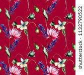 seamles pattern with decorative ... | Shutterstock . vector #1132790522
