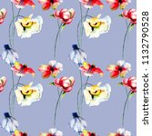 seamless pattern with spring...   Shutterstock . vector #1132790528