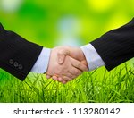 businessman handshake teamwork ... | Shutterstock . vector #113280142