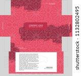 tissue box template concept ... | Shutterstock .eps vector #1132802495