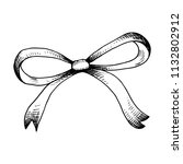 thin ribbon with ribbons.... | Shutterstock .eps vector #1132802912
