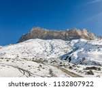 landscape of mountains and... | Shutterstock . vector #1132807922