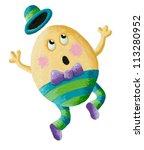 Acrylic Illustration Of Humpty...