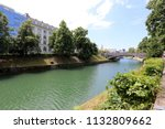 the ljubljanica river flows... | Shutterstock . vector #1132809662