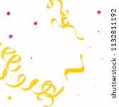 colorful star ribbon confetti.... | Shutterstock .eps vector #1132811192