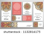 vector set of greeting cards or ...   Shutterstock .eps vector #1132816175