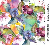 colorful gardenia flowers....   Shutterstock . vector #1132822502