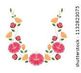 hungarian folk pattern vector.... | Shutterstock .eps vector #1132823075