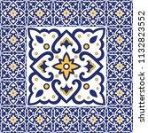 spanish tile pattern vector... | Shutterstock .eps vector #1132823552