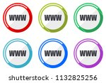 www vector icons  set of... | Shutterstock .eps vector #1132825256
