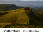 green mountains of quiraing  on ... | Shutterstock . vector #1132830362