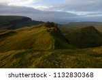 green mountains of quiraing  on ... | Shutterstock . vector #1132830368