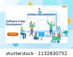 webpage building and software... | Shutterstock .eps vector #1132830752