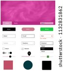 light pink  green vector ui ux...
