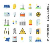 solar energy equipment icons... | Shutterstock . vector #1132832882