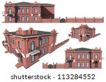 3d architectural model of the... | Shutterstock . vector #113284552