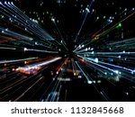 light lines with long exposure  ... | Shutterstock . vector #1132845668