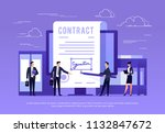 vector concept of e signature.... | Shutterstock .eps vector #1132847672