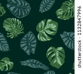 vector tropic seamless pattern. ... | Shutterstock .eps vector #1132847996