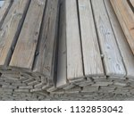 old path of wood curled lies   Shutterstock . vector #1132853042