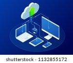 isometric modern cloud...   Shutterstock .eps vector #1132855172