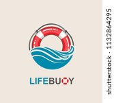 red lifebuoy design element... | Shutterstock .eps vector #1132864295