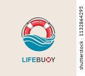 red lifebuoy design element...   Shutterstock .eps vector #1132864295