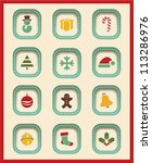 vector christmas icons. | Shutterstock .eps vector #113286976