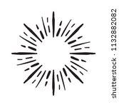 vintage sunburst explosion hand ... | Shutterstock .eps vector #1132882082