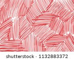 abstract background of red pen... | Shutterstock . vector #1132883372