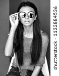 black and white stylish... | Shutterstock . vector #1132884536