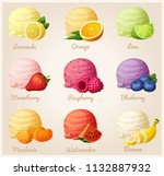 set of cartoon icons. ice cream ... | Shutterstock . vector #1132887932