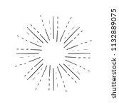 vintage sunburst explosion hand ...   Shutterstock .eps vector #1132889075