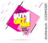 sale tag  buy 1 get 1 free ... | Shutterstock .eps vector #1132895285