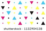 seamless pattern with colorful... | Shutterstock .eps vector #1132904138