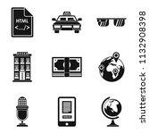 internet website icons set....