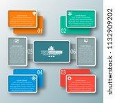 vector abstract 3d paper... | Shutterstock .eps vector #1132909202