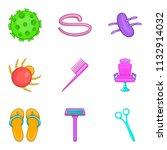 lavatory icons set. cartoon set ... | Shutterstock . vector #1132914032