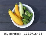 summer squashes and cucumbers... | Shutterstock . vector #1132916435
