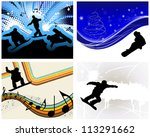 sport background set with... | Shutterstock .eps vector #113291662