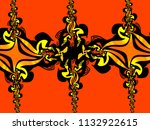 a hand drawing pattern made of... | Shutterstock . vector #1132922615